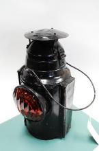 Antique Handlan UPRR Railroad Orange Lense Switch Lantern