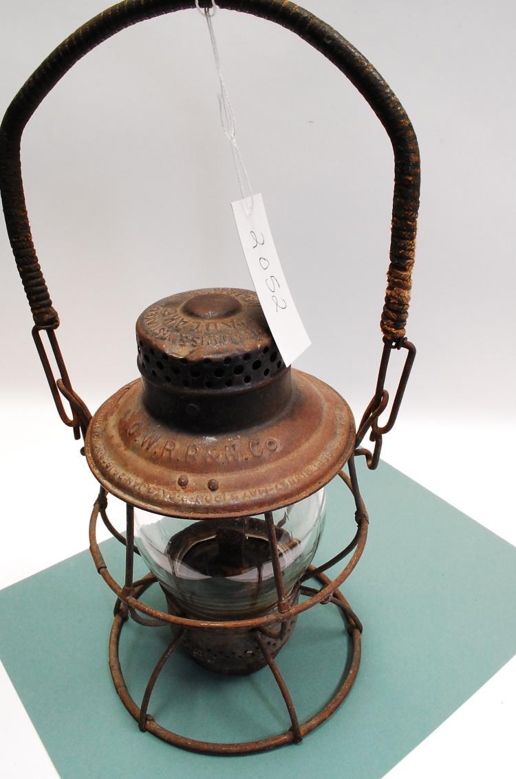 1912 Adams & Westlake Adlake Owrr&Nco Railroad Lantern