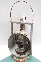 Antique SPCo Railroad Dietz Acme Inspector Oil Lamp With Clear Globe