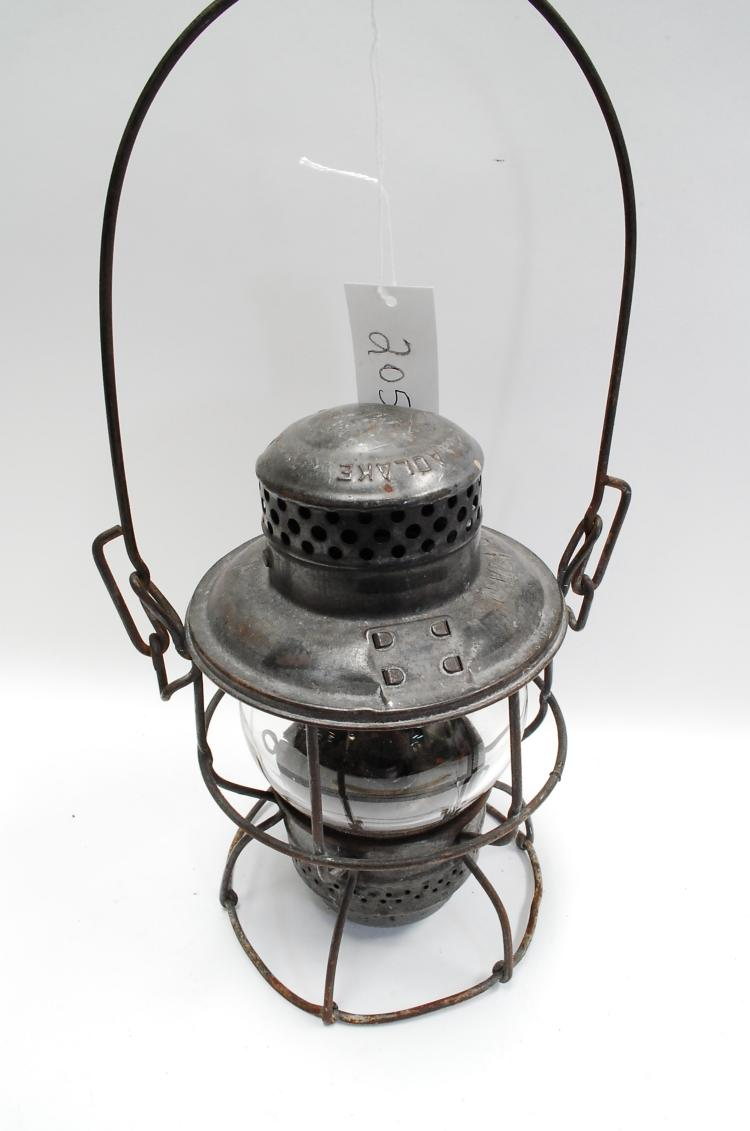 Antique Adlake Kero DM&IRy Railroad Lantern