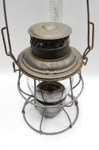 1913 Adams &Westlake Adlake Mcrr Railroad Lantern Matching Embossed MCRR Globe