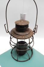 1913 Adams Westlake Adlake B&O RR Railroad Lantern Tall Embossed Safety First Matching Globe
