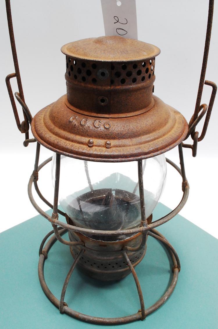 1913 Adlake Ccco Tall Globe Railroad Lantern