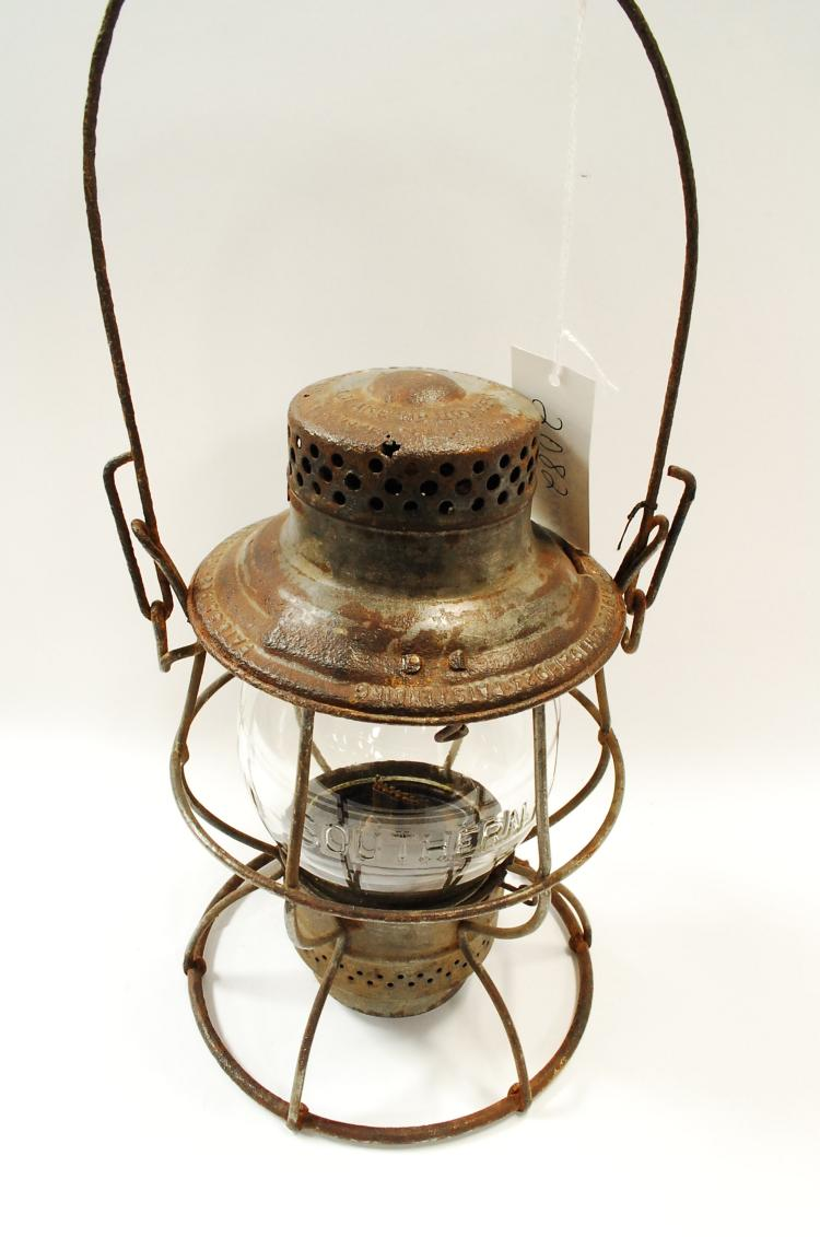 1923 Adlake Southern Railroad Lantern With Tall Embossed Southern Ry Matching Globe