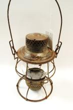 1923 Adlake Southern Railroad Lantern With Tall Embossed Southern Ry Matching Globe