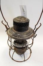 Antique Adlake Southern Ry Railroad Lantern With Short Acid Etched Matching Globe