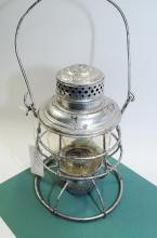 1909 Adlake C&NWRy Railroad Lantern With Tall Embossed Yellow Matching Globe