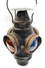 Antique Santa Fe 4 Way Switch Lantern