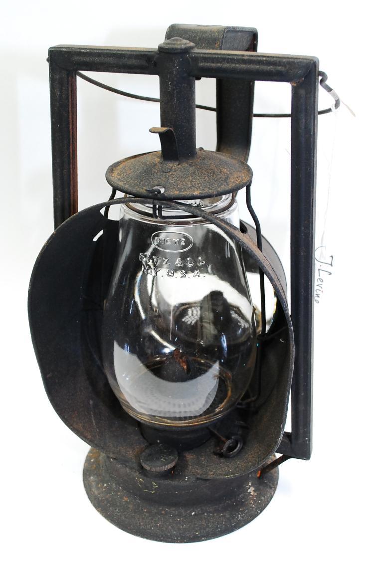 Antique Dietz Acme Inspector Lamp C&EIRR Railroad Clear Globe Lantern Globe