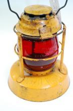 Antique Dietz Night Watch Red Globe Embossed Little Wizard Lantern