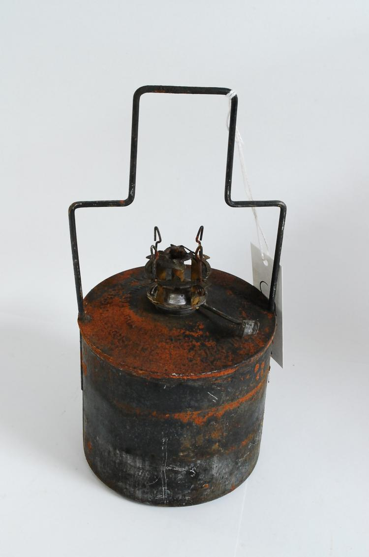 Antique Adams And Westlake Kerosene Oil Burner Insert For Large Railroad Lantern