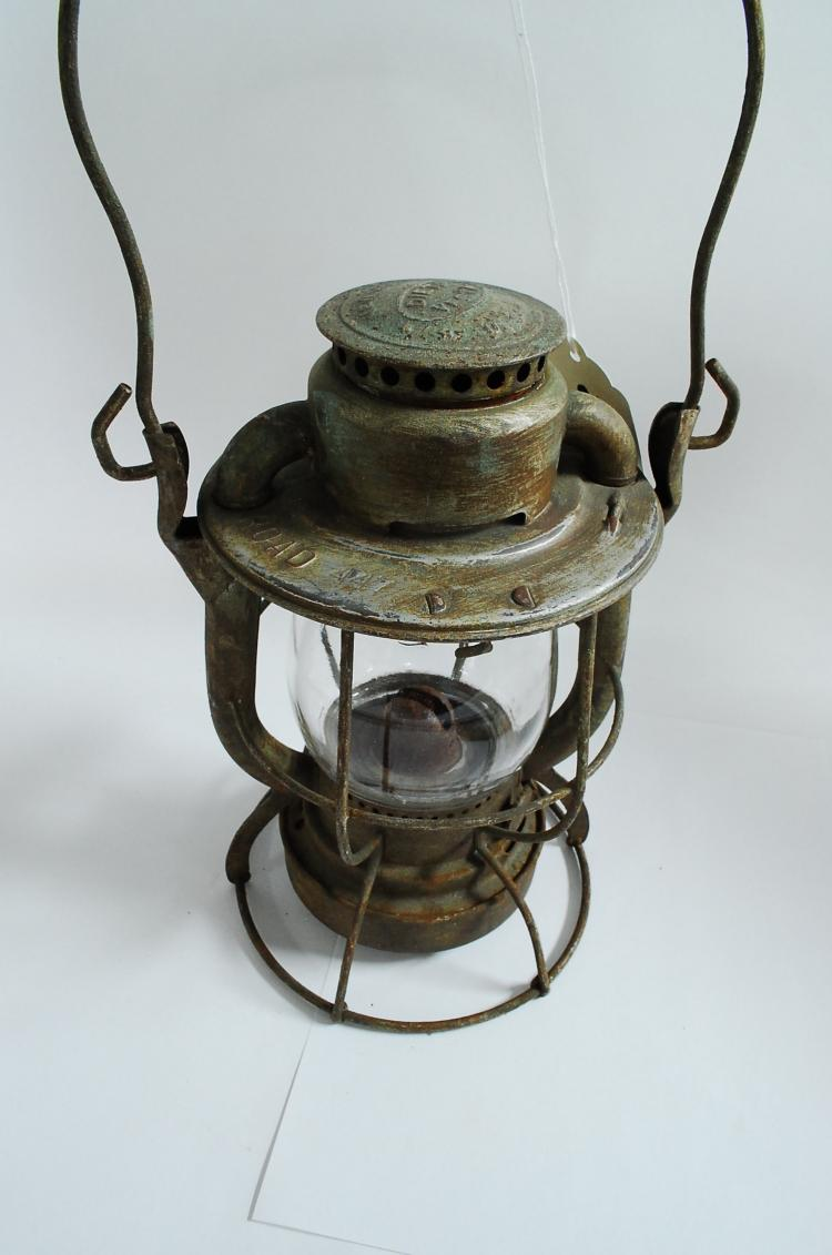 Antique Dietz Vesta Nickel Plate Road Railroad Lantern 447 With Clear Globe
