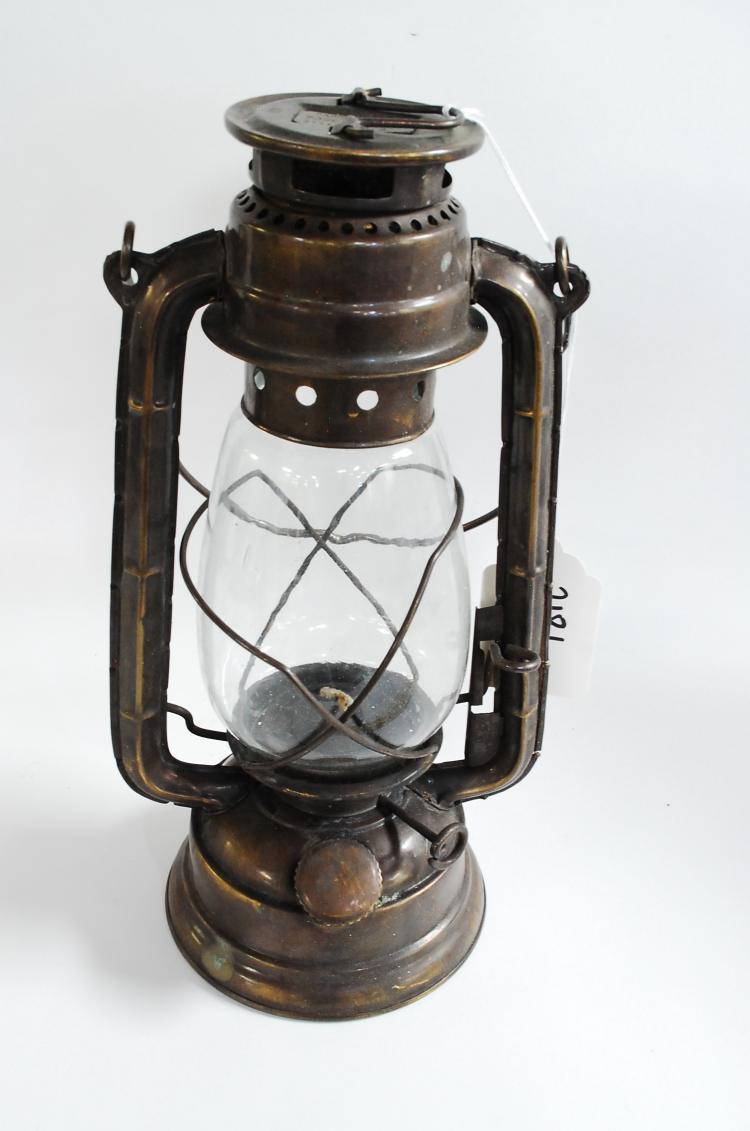 Vintage Property Of Pony Express Station Number 3 Brass Street Lantern
