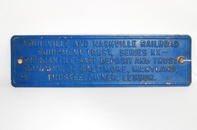 Antique Or Vintage Louisville & Nashville Railroad Trustee Owner Building Or Yard Sign