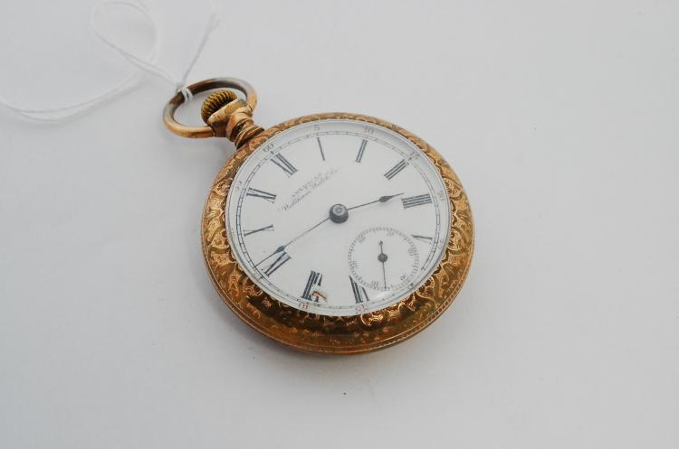 Antique Goldfilled Ornate Waltham Watch Co American Railroad Pocket Watch