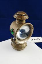 Antique The Everlit Edward Miller & Co Ornate Miniature Bicycle Oil Lantern