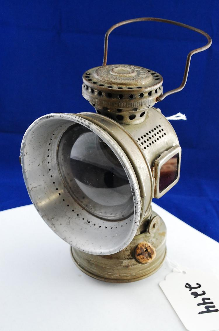 1898 Model 20th Century Mfg Co Bicycle Oil Lamp Lantern