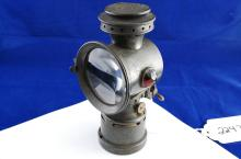 Antique Rose Mfg Co The Neverout Insulated Kerosene Safety Bicycle Carriage Or Buggy Lamp Lantern