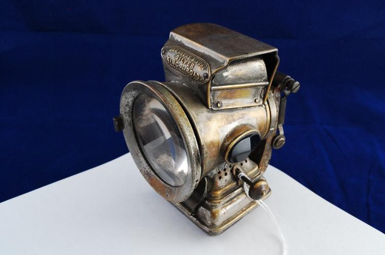 Antique 1889 Joseph Lucas And Sons Silver King Of The Road Brass Bicycle Lamp Lantern
