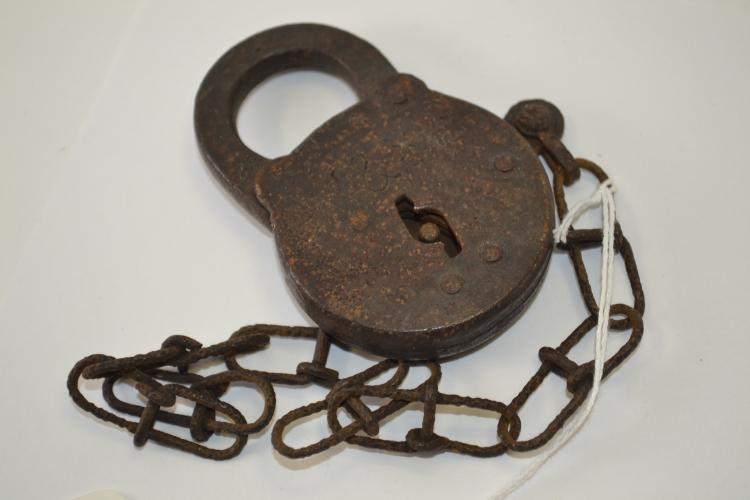 Vintage CM&STP Railroad Padlock With No Key