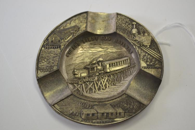 Vintage World's First Cog Railway Mount Washington Made In Japan Railroad Ashtray