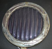 Antique Bausch & Lomb Optical Company Large Purple Ribbed 11 Inch Glass Lense