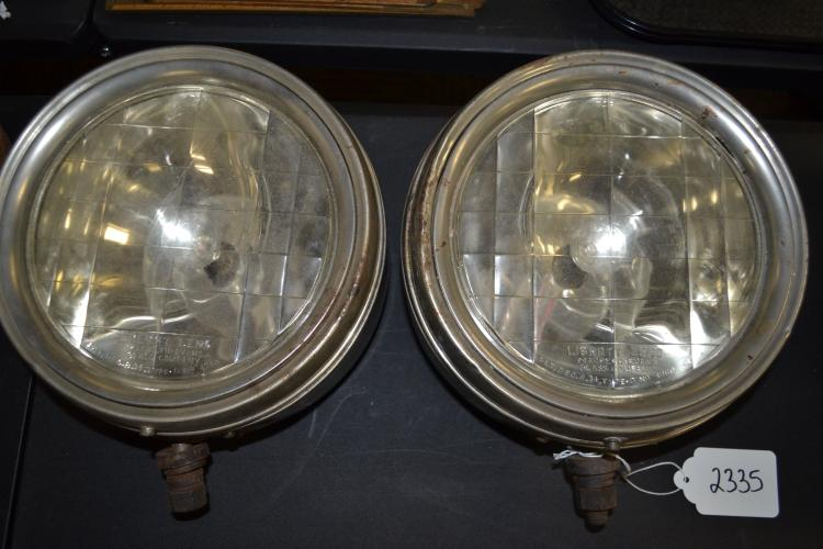 Antique Liberty Lens Macbeth Evans Glass Company Early Automobile Headlamps
