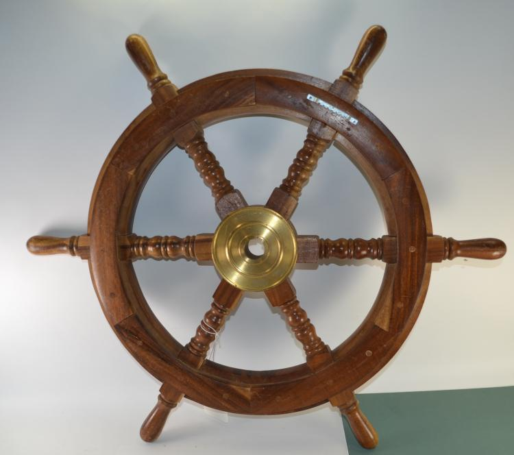Vintage Ship's Wheel Wall Hanger