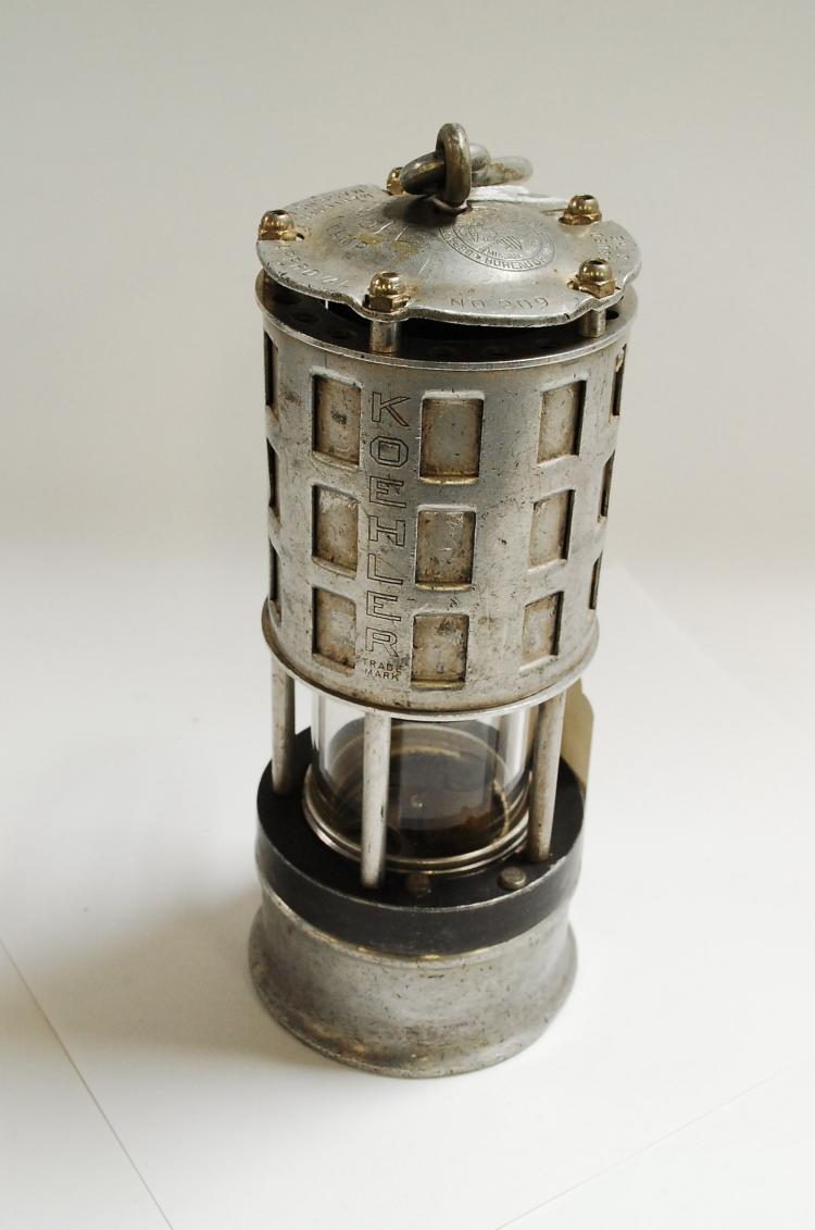 Antique Koehler Mfg Co Department Of Interior Stamped Number 209 Carbide Miners Lantern