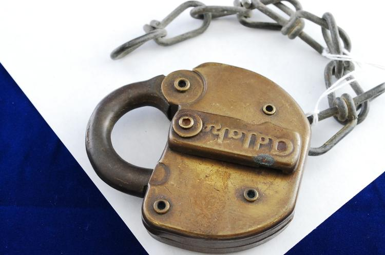 Antique Or Vintage Adlake N&W Railroad Padlock With No Key