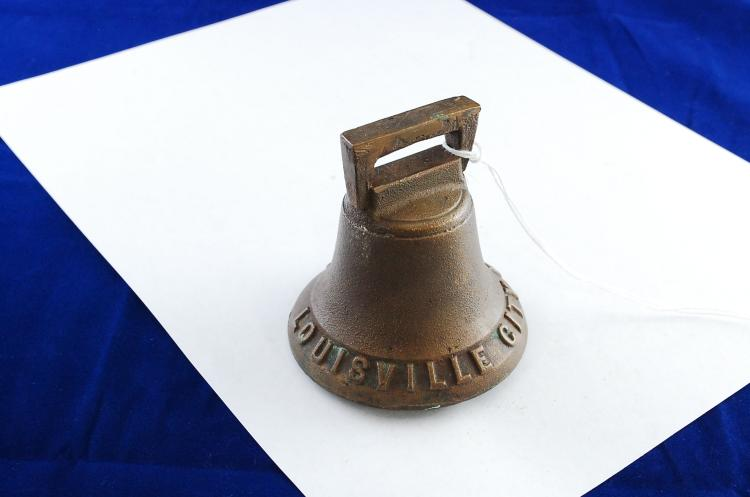 Antique Cast Brass Louisville City Railroad Bell