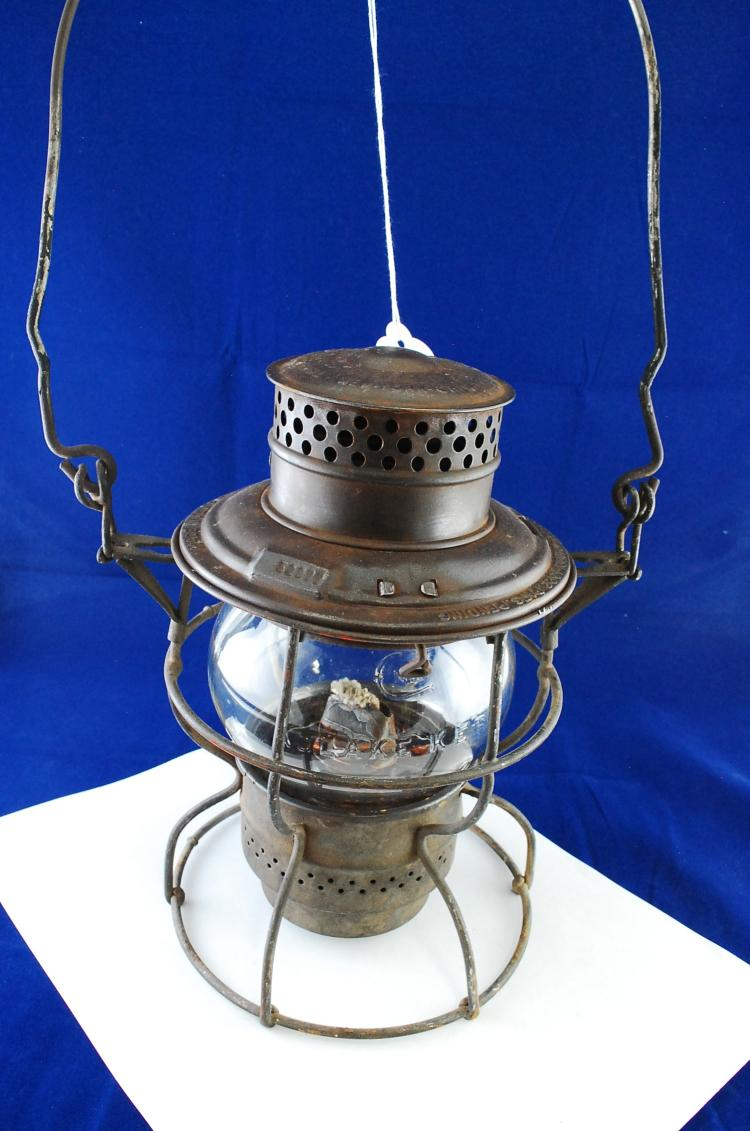 Antique Adlake Kero No 250 CM&STPRy Railroad Lantern