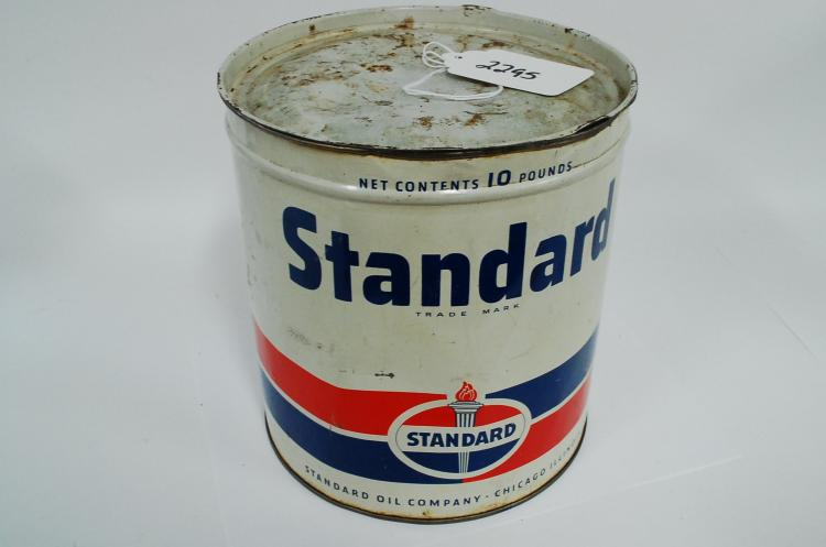 Antique Standard Oil Company 10 Pound Grease Advertising Can