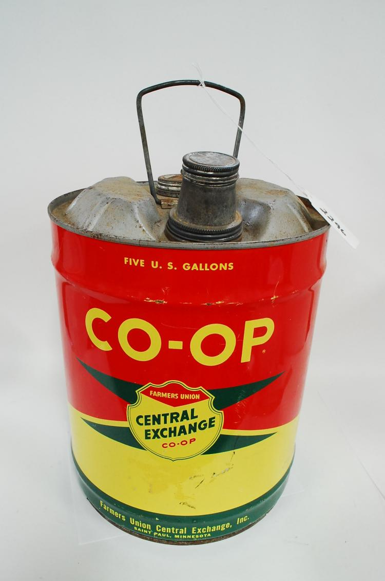 Antique Or Vintage 5-Gallon Co-Op Central Exchange Farmers Union Gas Or Fuel Can