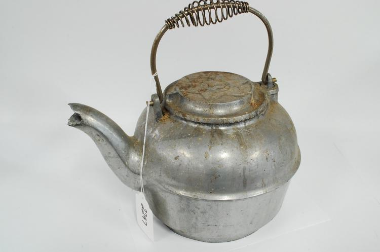 Antique Cast Aluminum Number 8 Fireplace Water Kettle