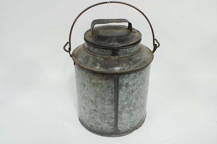 Antique Galvanized CMSTP&PRR Railroad Kerosene Fuel Can Or Container