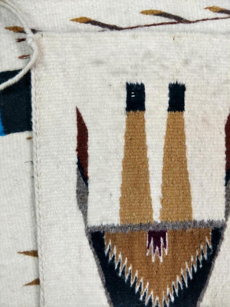 Native Yei Navajo Wool Rug