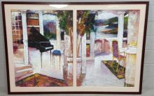 Dennis Campay, Italian Villa Lithograph