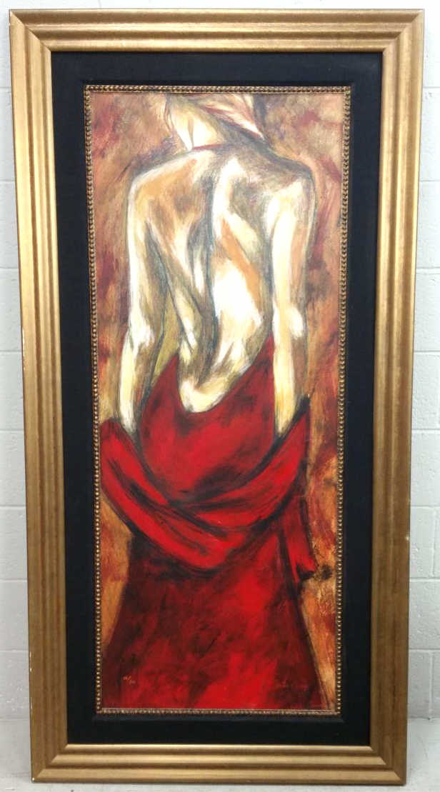 Victor Thomas Lady in Red Embellished