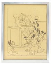 Disney Mickey Goofy Cartoon Book PAge
