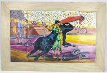 Dearls, Spanish Bullfight Paint on Tile