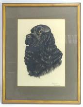 Raymond de Sanctis, Black Spaniel Pastel