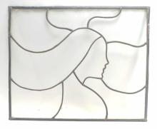 Wallace J. Parker Female Profile Clear Stain Glass