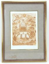 F. Deberdt Mausoleum at Halicarnas Etching