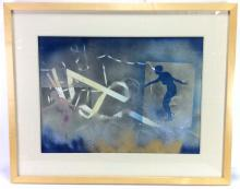 Signed Modern Abstract Air Brush on Paper