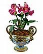 Italian Pottery Planter w Decorative Snake Handles