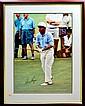 Framed Golf Poster, Signed Gary Player