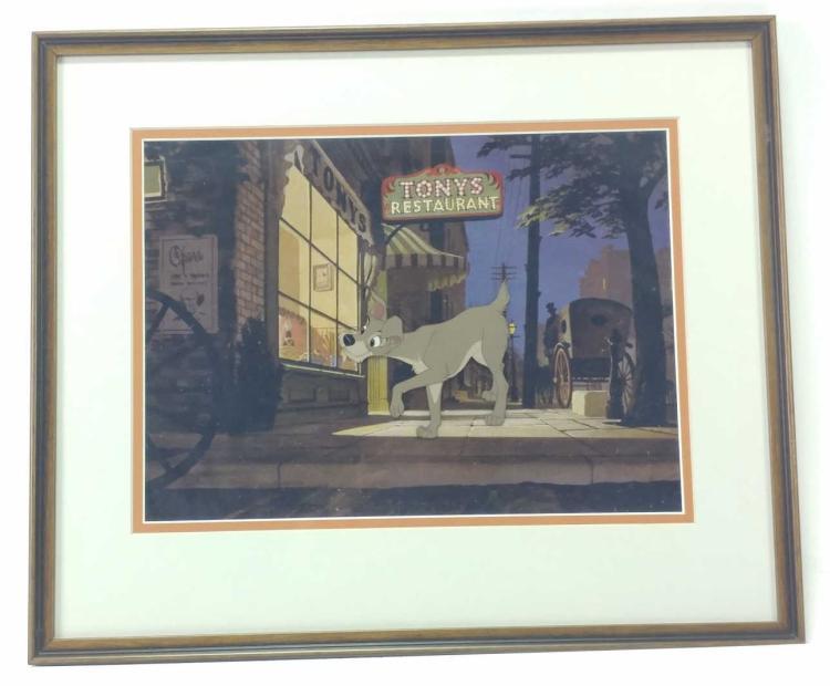 Disney Lady & The Tramp Animation Cel