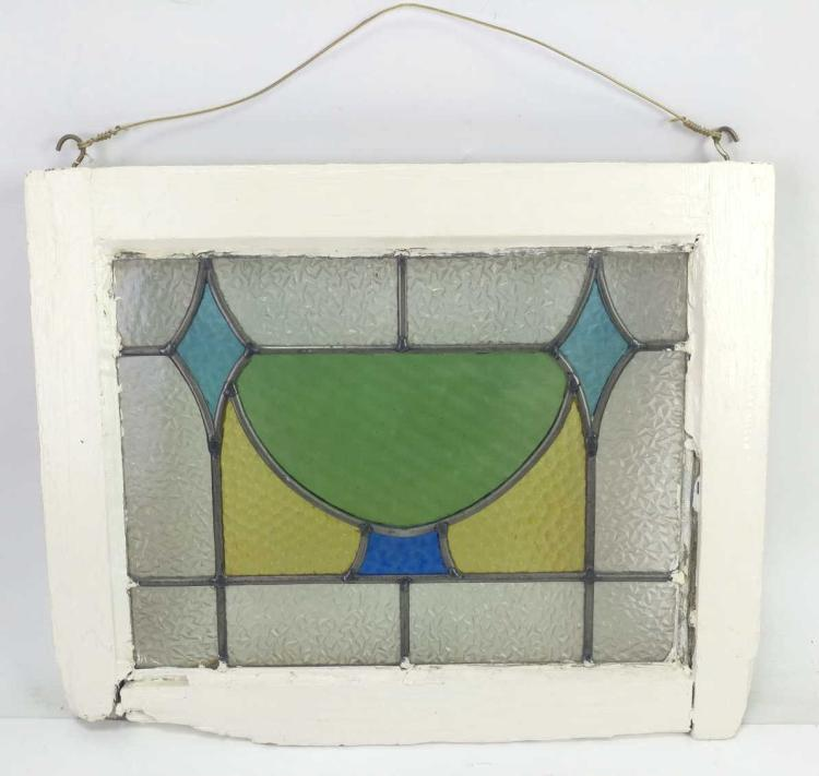 20th Stain Glass Window Panel