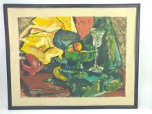 E. Kraus, Table Still Life Mixed Media